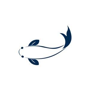 鲤鱼logo图标素材下载