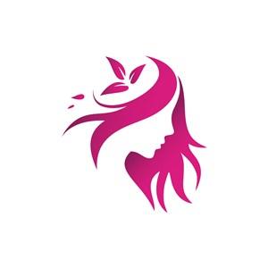 美容logo设计--女人花logo图标素材下载