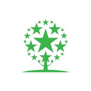 设计公司logo设计--星星树logo图标素材下载