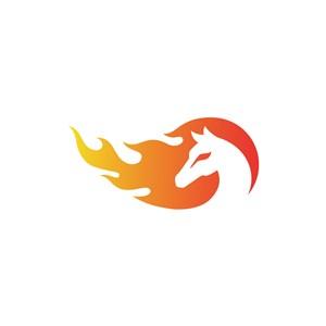 设计公司logo设计--火焰马logo图标素材下载