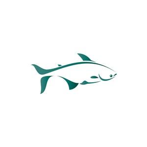 海鲜食品logo设计--鱼元素logo图标素材下载