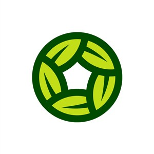 家居logo设计--叶子环形logo图标素材下载