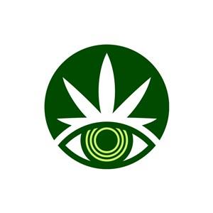 家居地产logo设计--眼睛叶子logo图标素材下载