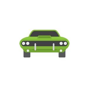绿色赛车矢量logo图标素材下载