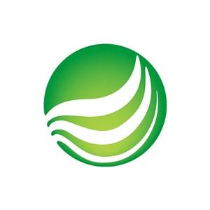 绿色球形矢量logo图标素材下载