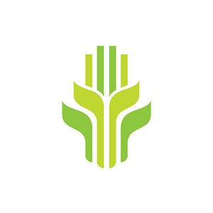 绿色农作物庄稼矢量logo图标素材下载