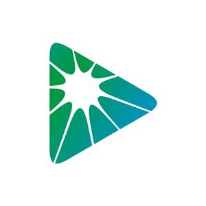 绿色三角形矢量logo图标素材下载