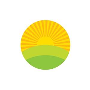 酒店旅游logo设计--太阳田园乡村logo图标素材下载