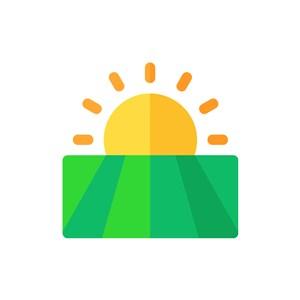 旅游度假logo设计--太阳农田logo图标素材下载