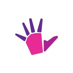 设计传媒logo设计--艺术手logo图标素材下载