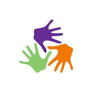 运动休闲logo设计--手掌logo图标素材下载
