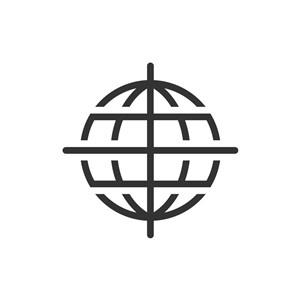 网络科技logo设计--十字地球logo图标素材下载