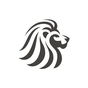 金融機構logo設計--側面雄獅logo圖標素材下載