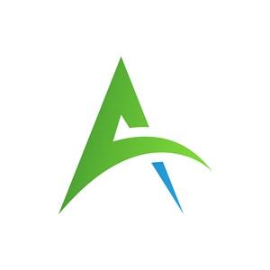 绿色A字母标志设计素材下载