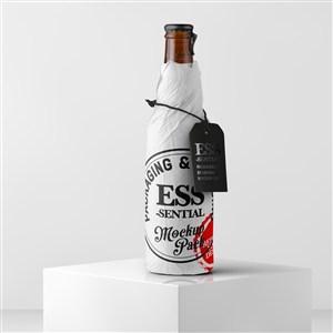 酒瓶饮料包装设计样机