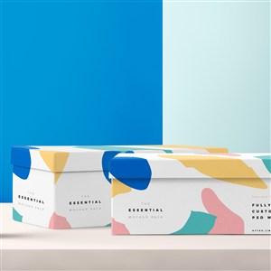 彩色包装盒设计样机
