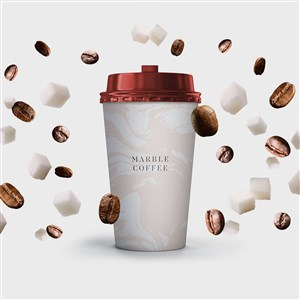 咖啡纸杯VI样机模板