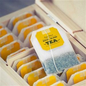 高档茶叶茶包木盒样机模板