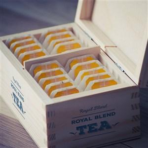 高级茶叶茶包木盒样机