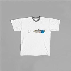 海鮮餐廳viT恤logo樣機模板