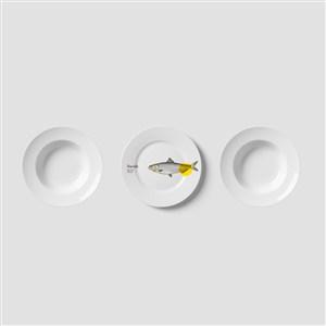 餐盘VI样机模板