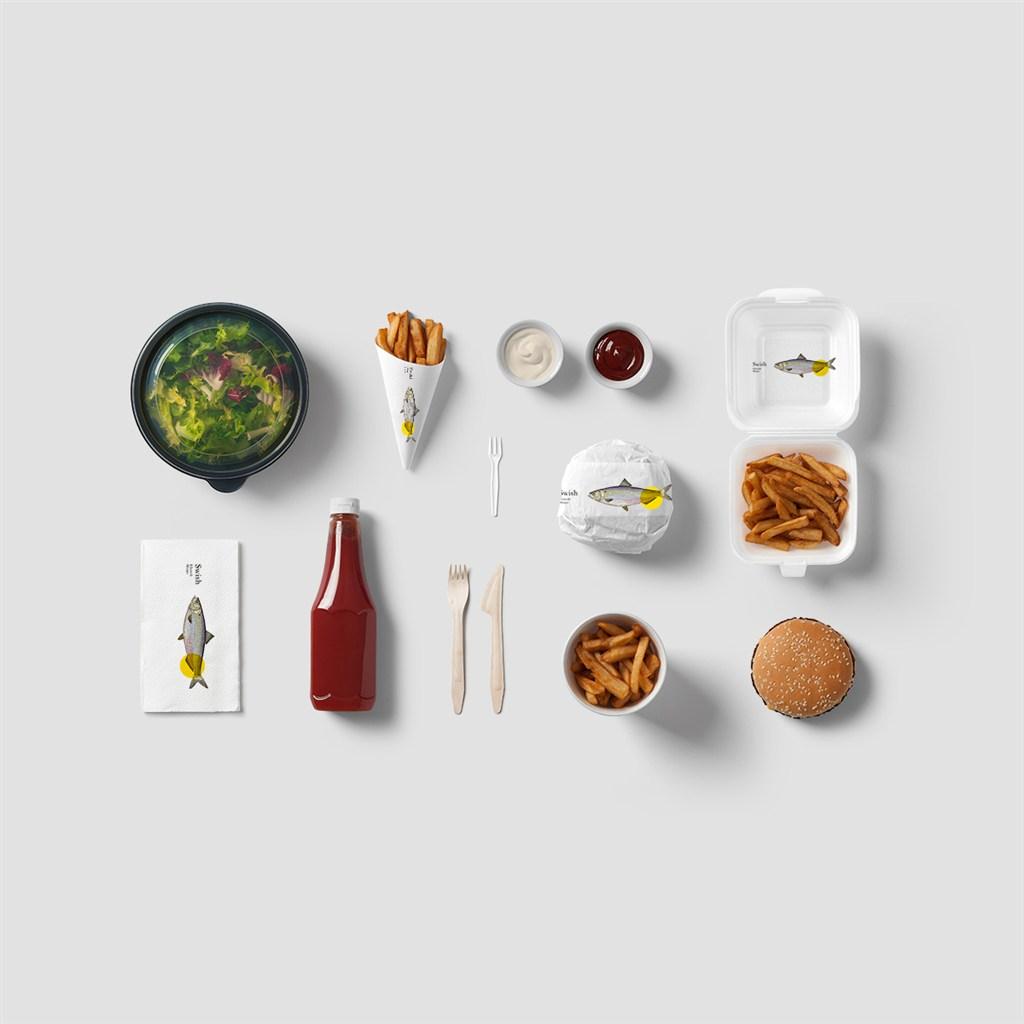 餐厅食品VI样机模板