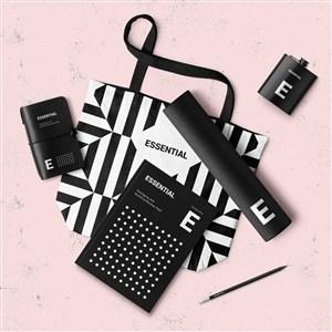 笔记本酒壶圆筒手提袋DM宣传单页样机