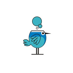 小鸟LOGO素材图标