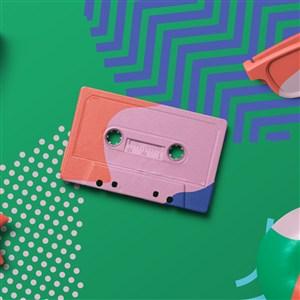 创意磁带魔方设计样机