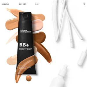 创意粉底液BB霜包装设计样机