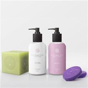 护肤品乳液香皂包装样机模板