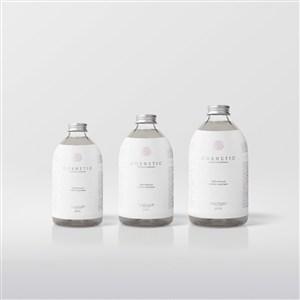 玻璃护肤品瓶包装样机模板