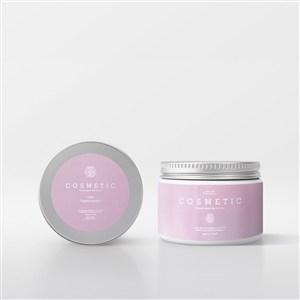 化妝品粉紅瓶子包裝樣機