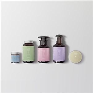 化妆品包装瓶组合样机模板