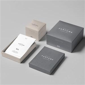 奢侈品珠宝首饰组合包装盒样机贴图