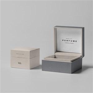 奢侈品珠宝首饰包装盒样机贴图