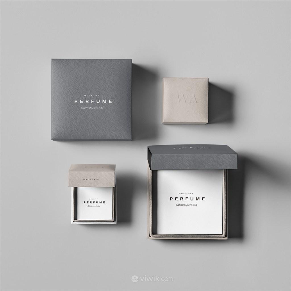 奢侈品珠宝首饰组合包装盒样机