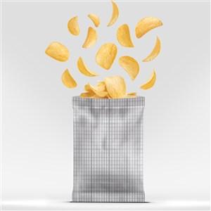 薯片零食包装设计PS样机模板