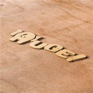 立体木纹LOGO标志PS千图样机