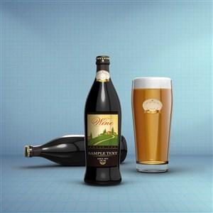 小支啤酒瓶包装千图样机素材