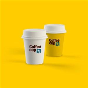 小杯咖啡杯千图样机PS融图模板