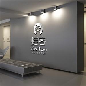 公司形象墙LOGO样机模板