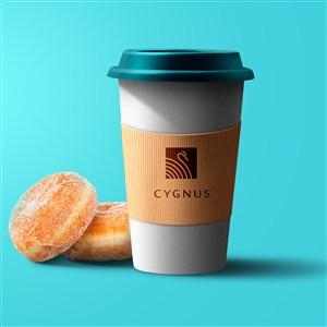 一次性咖啡杯PS千图样机融图模板