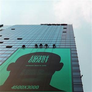 楼宇广告牌PS样机模板