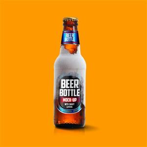 啤酒瓶包装设计千图样机