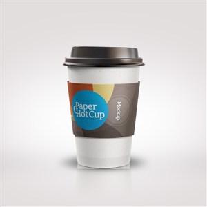 一次性咖啡杯PS千图样机模板