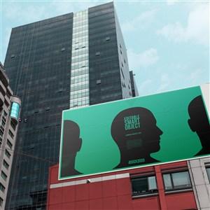 户外广告牌千图样机模板