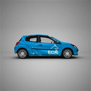 小汽車車貼PS千圖樣機模板
