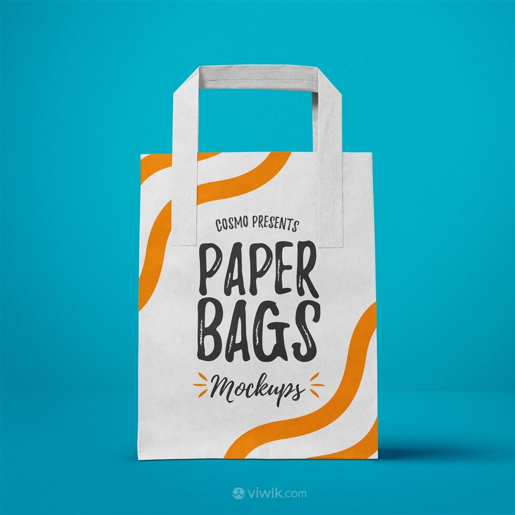 手提袋购物袋设计模板PS千图样机