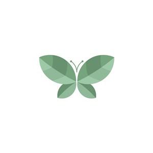 樹葉蝴蝶矢量logo素材